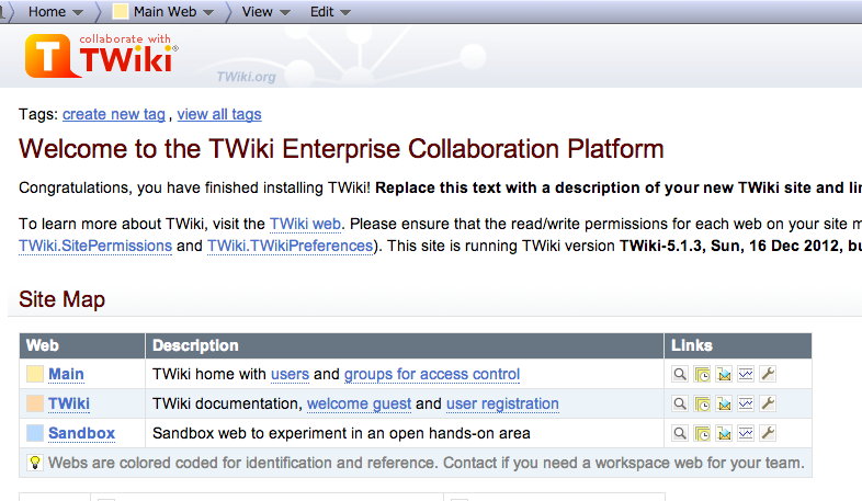 TWiki Screenshot